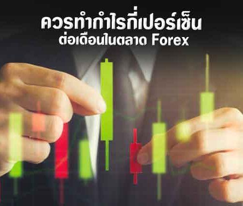 ควรทำกำไรกี่ % ต่อเดือนในตลาด Forex?